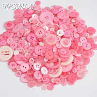 TPSMOC Top Quality Sweet Pink Series 50 Gram Sewing 2 Holes Mixed Promotions Buttons Resin Sewing Scrapbook DIY Making