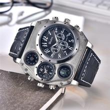 Oulm 1349 New Sport Watches Men Super Big Large Dial Male Quartz Clock Decorative Compass Luxury Mens Wrist Watch