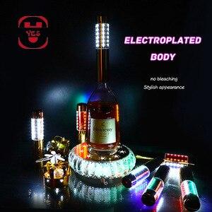 Image 1 - כן צבעוני LED אורות שמפניה זורח מקל זיקוקין בקבוק פלאש Strobe מוט שמפניה פקק בר/KTV/מסיבת יין אבזרי