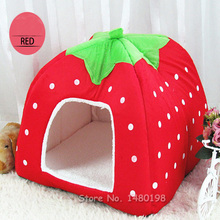 Soft Strawberry Cat Rabbit Bed