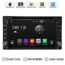 HD 6.2 Quad core Universal Double 2 Din Android 4.4 Car DVD+GPS Navigation+Wifi+3G+Mirror link+Audio+Video+Stereo+map DAB