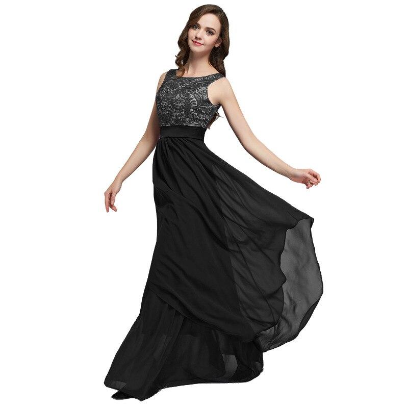Women's dress women's chiffon stitching lace sleeveless dress women's fashion Slim temperament wedding reception dress