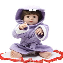 Full Silicone Fashion Girl Doll Collectible 23 Inch Reborn Baby Dolls Realistic Baby Toy for Child Christmas Gift