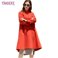Winter Women Middle Age Woolen Jacket 2018 Solid Color High Quality Double Velvet Wool Coat Fox