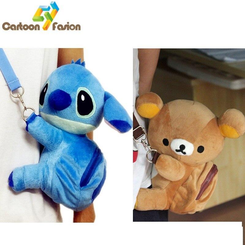 Disney Stitch Scrump Bolso Móvil Suave Felpa Bolsa Bandolera Hombro Bolso de mano