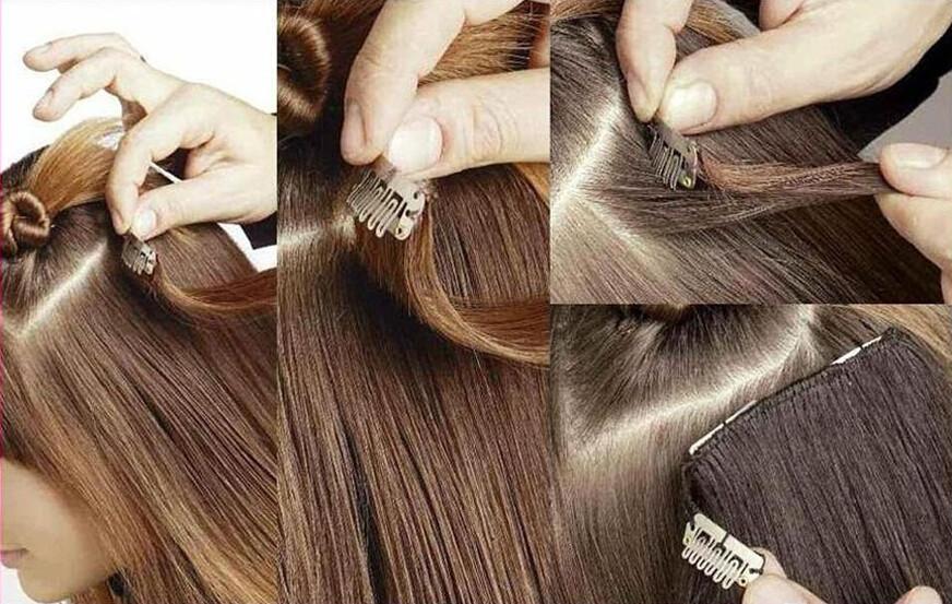 attaching hair