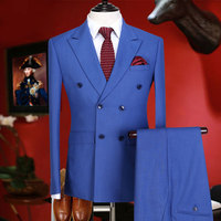 Brand Clothing slim fit formal men suits tuxedo groom wedding suits for men prom suits double breasted England business suits