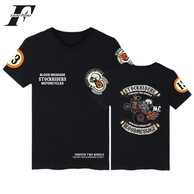 LUCKYFRIDAYF 2017 Bờ Biển Phía Tây Triều Thẻ Phim Hoạt Hình Sọ Xe Máy Mùa Xuân Cotton Mùa Hè Người Đàn Ông/Phụ Nữ Ngắn Tay Áo T-Shirt Cộng Với Kích Thước
