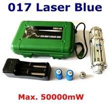 [RedStar] YX017 High power 50000 mW Blaue laserpointer laser kanone pistole brennen zigarette spiel umfassen 2×16340 batterie und ladegerät