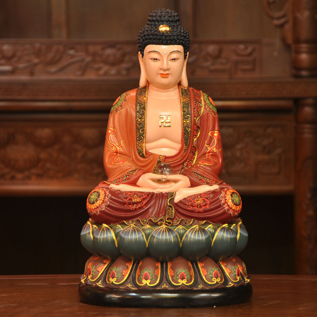 Super Existenace Sam Shing Suo Po San Sheng resin temple Buddha  ZR46