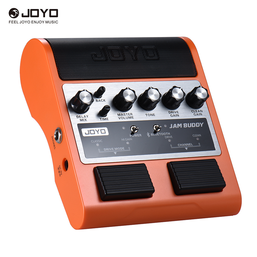 JOYO JAM BUDDY Dual Channel 2 * 4W Pedal Style Guitar Amplifier Amp Speaker Rechargeable Bluetooth 4.0 with Delay Clean Effects joyo ja 02 mini guitar amplifier 3w instruments guitarra amp speaker with volume tone clean distortion effects free shipping