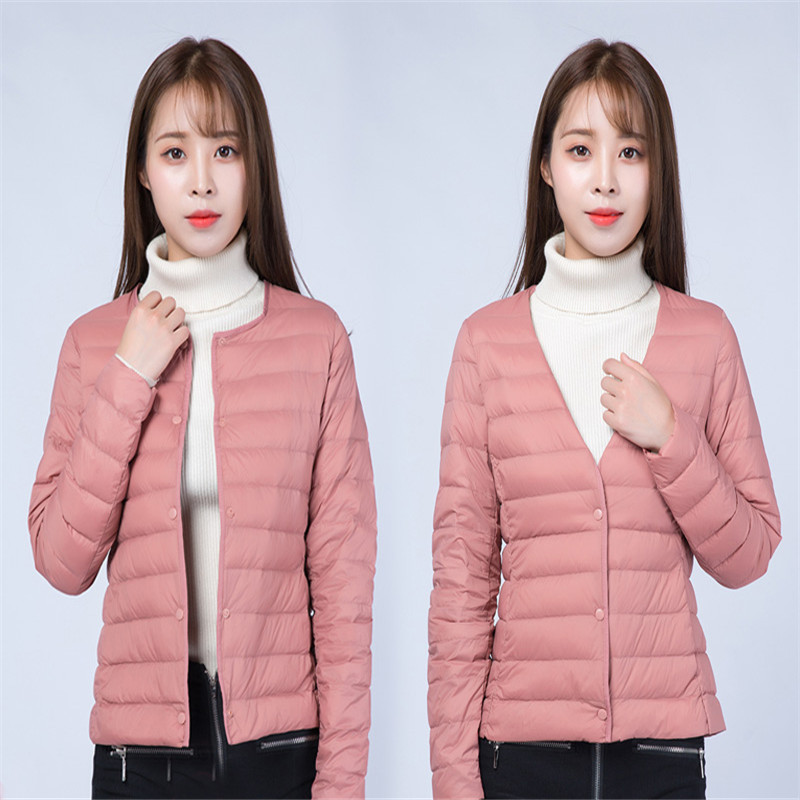 Two Wear 2018 Women Ultra Light   Down   Jacket Autumn Winter Warm White Duck   Down     Coat   Parkas Ladies Short   Coat   Plus Size 4XL A1085