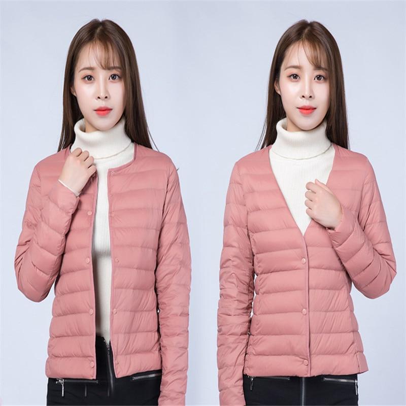 Two Wear 2018 Women Ultra Light   Down   Jacket Autumn Winter Warm White Duck   Down     Coat   Parkas Ladies Short   Coat   Plus Size 4XL A1085