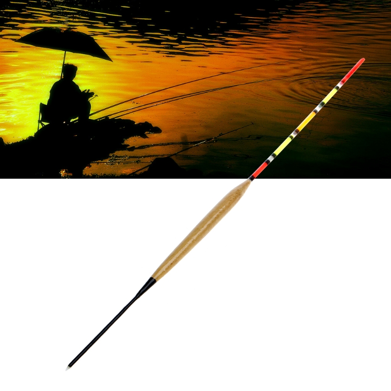 10Pcs/Pack Wood Fishing Float Tank Slip Drift Tube Bobber Tackle Tool Accessories Fishing Tool Kit