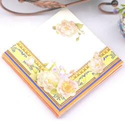 Новый 20 шт./лот желтый богатство цветов бумажных салфеток Свадьба Салфетка обеденным столом бумажные салфетки Свадебная вечеринка