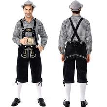 German traditional Grey Oktoberfest couple costumes European and American bar overalls Alpine adult women