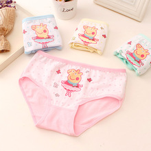 3 pcs /New Cotton Mixed colorChildren Panties 6 Pcs/lot Girls' Briefs Female Child Underwear baby girl panty Children Clothing