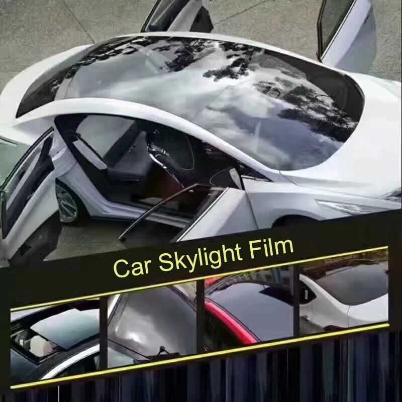 1.35 m X 2 m/3 m Brillant Voiture Lucarne Film Avec la Bulle Libre Noir De Toit De Voiture Vinyle Film autocollants Auto De Protection Car styling Accessoires - 5