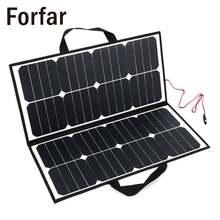 Форфар 50 Вт 18 в панели солнечных батарей портативный Открытый складной панели солнечных батарей Банка зарядное устройство для аккумулятора