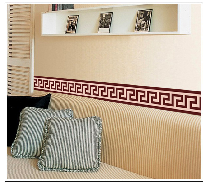 Wall Border Paper Aliexpress : Buy Dreamhome Brown Wallpaper Border Footline