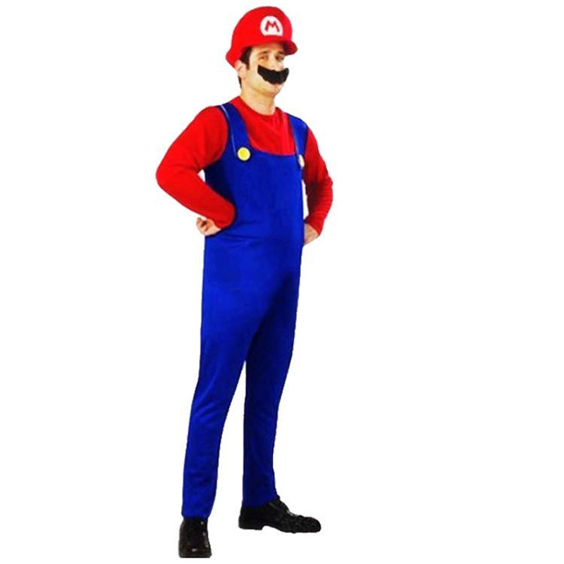 Super Mario Luigi laste ja täiskasvanute tegelaskuju kostüüm / punane ja roheline variant 3