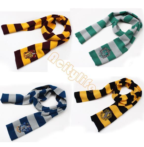 € 7.11 |Harry Potter bufanda de Gryffindor Hufflepuff Slytherin Knit  escuela de magia Slytherin bufandas Cosplay regalo accesorios bufandas en  ...