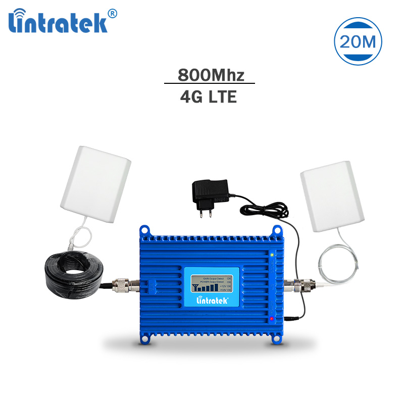 Lintratek Signal Repeater 4g 800Mhz Band 20 Signal Amplifier Lte 4g Booster 4g Lte Repeater Lte Amplifier 4g Signal Booster #78