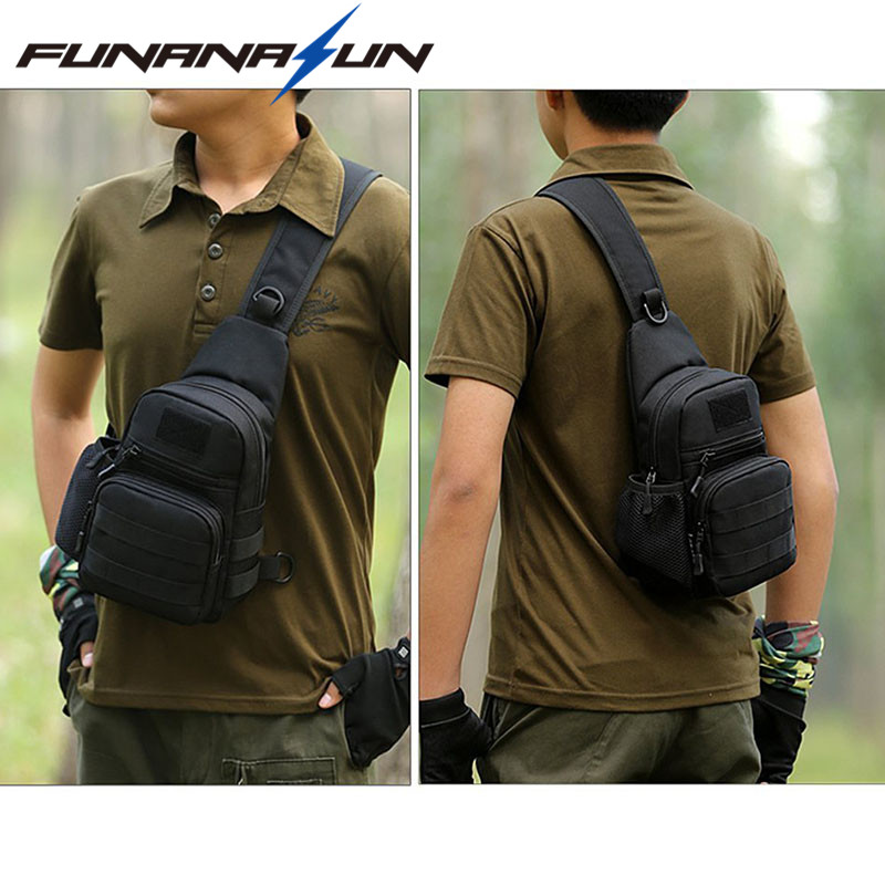 Unisex Chest Bag Nylon Military Traveling Cycling Cross Body Shoulder Backpack Camping Chest Bag Anti Scratch Waterproof Bag Climbing Bags