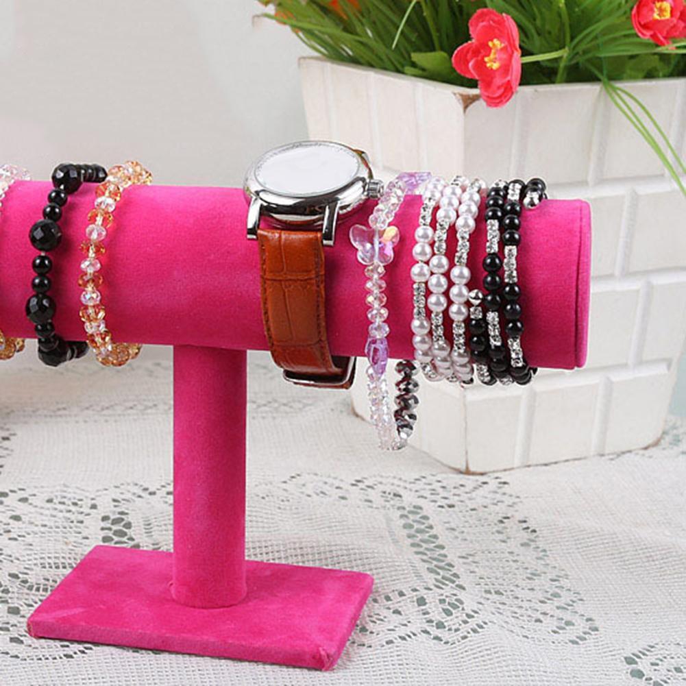 Velvet Bracelet Bangle Necklace Jewelry Display Stand Holder Organizer Flannel Bracelet Bracelet Necklace Jewelry Display Stand