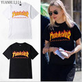 thrasher t shirt Men women skateboards tee short sleeve skate t-shirts tops hip hop t-shirt homme man trasher t shirts