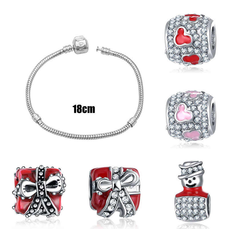 charms silver 925 original bracelet jewelry valentine's day mary poppins bijoux riverdale harajuku beads jewellery