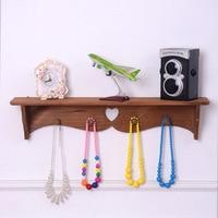 Mediterranean style wall shelf wood decoration clothing shop shelf rack farmhouse decor floating shelf