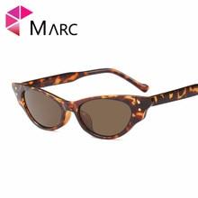 цена на MARC UV400 2018NEW WOMEN MEN fashion Sunglasses Gradient Plastic Goggle gafas Sol Resin Leopard eyewear cat eye