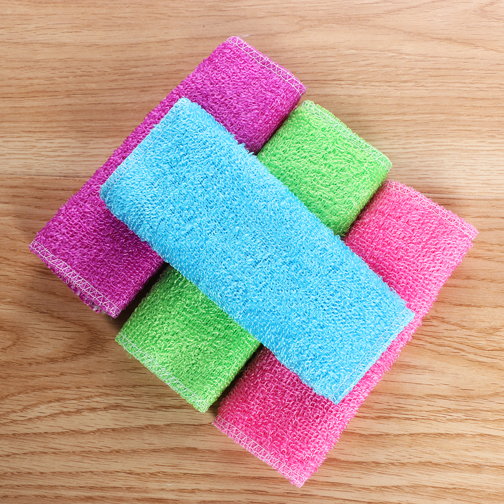 1PC Magic Bamboo Fiber Anti-grease Dish Cloth Washing Towel Kitchen Household Scouring Pad Cleaning Rags Accessories for Home(China)