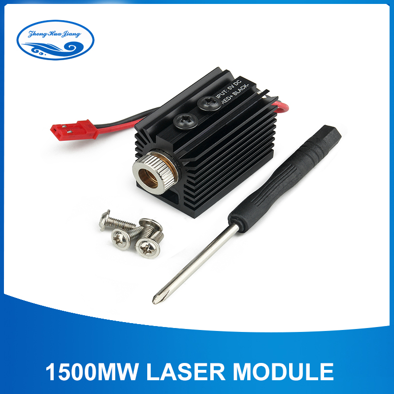 High Quality 1500mW 405nm Blueviolet Light Laser Head Laser Module Engraver Accessory For CNC Laser Carving Engraving Machine