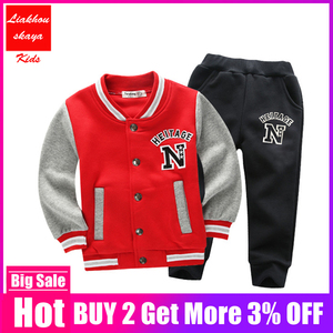 Image 1 - 2019 Fashion Height Quality New Year Costume For Boy Clothing Kids Tracksuit Autumn Winter Set Sports Suit Christmas Clothes