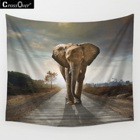 Free Shipping Animal Patten Beach Towel Printing Elephant Tapestry Yoga Mat Rectangle Beach Blanket Room Tablecloth