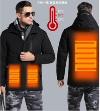 Man Woman Electronic Intelligent Heating USB Hooded Heated Work Jacket Coats Safety Clothing Temperature Control