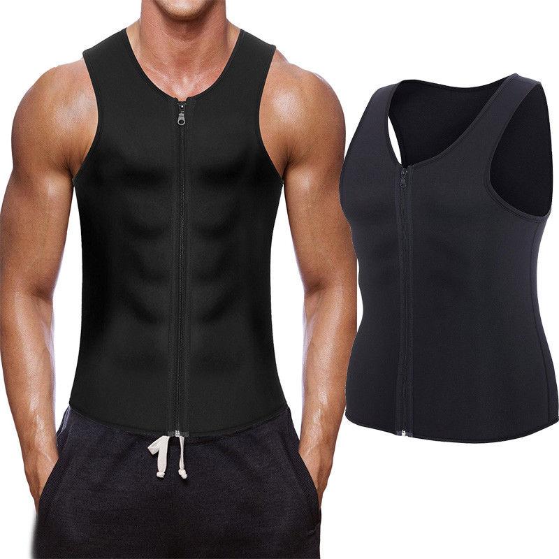 Men/'s Slimming Neoprene Vest Hot Sweat Shirt Body Shaper Waist Trainer Shapewear