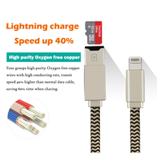 Multi-function 8 Pin to USB Digital Cable External U Disk Data Charging Cable Micro SD TF Card Reader Cables for iPhone 6 7 ipad