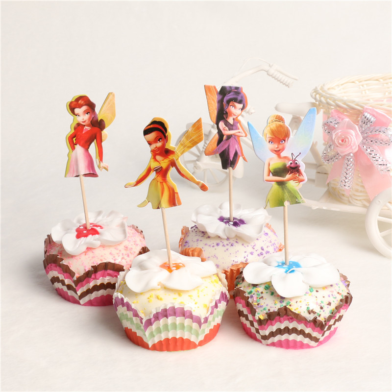 48pcs Set Cowboy Theme Cupcake Picks Cake Toppers Decor