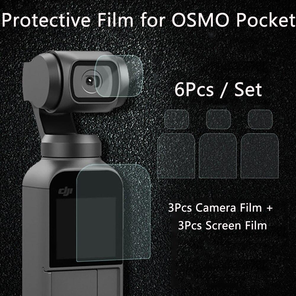Film d'écran pour DJI OSMO caméra de poche lentille Film de protection accessoire pour 4K cardan téléphone protecteur Films