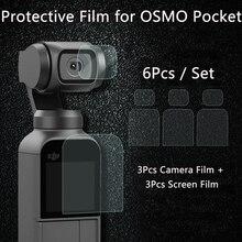 Pellicola per schermo per DJI OSMO Pocket 2 obiettivo per fotocamera pellicola protettiva accessorio per pellicole protettive per telefono cardanico 4K