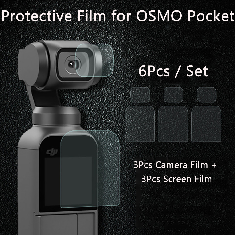 Screen Film  For DJI OSMO Pocket Camera Lens Protective Film Accessory For 4K Gimbal Phone Protector Films