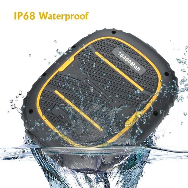 Kenxinda max 7 banco de la energía 10400 mah volver cargador impermeable ip68 para iphone para samsung para lg smartphone
