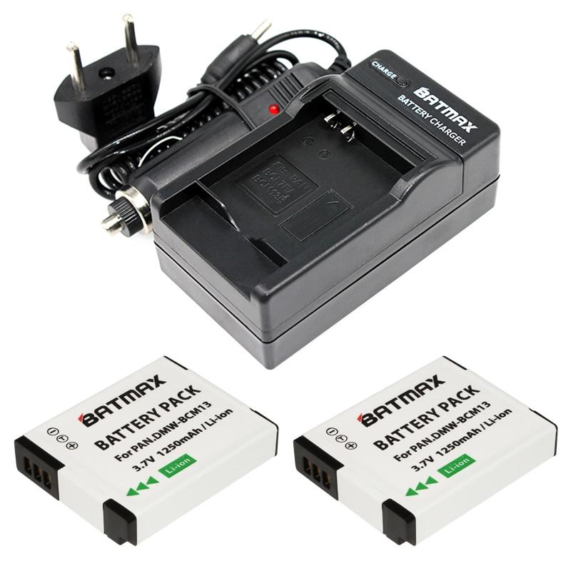 Prix pour 2X DMW-BCM13 DMW-BCM13E BCM13 Batterie + Chargeur pour Panasonic Lumix Zs40/Tz60, ZS45/TZ57, ZS50/TZ70, ZS27/TZ37, et TZ41