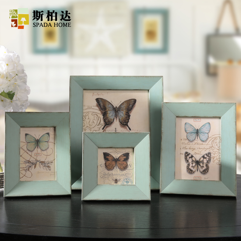 Vintage Collage Photo Frame Family Baby Photo Frames for Picture Meticulous  Workmanship Table Butterfly Picture Frame