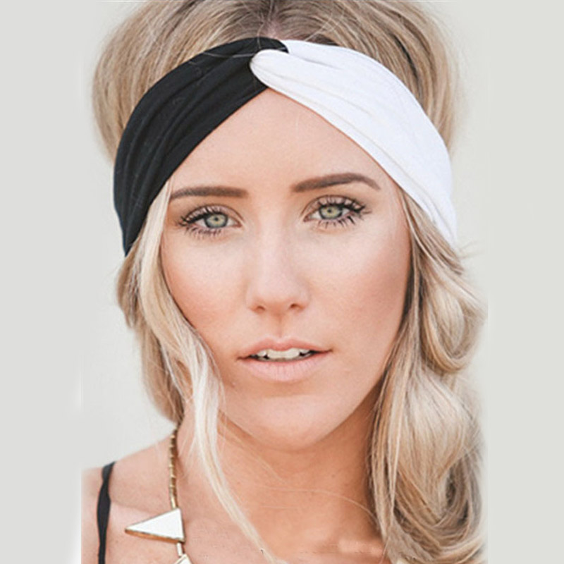 2019 Twist Turban Headband for Women Hair Accessories Stretch Hairbands Girls   Headwear   Sport Headbands Head Wrap Band Bandana