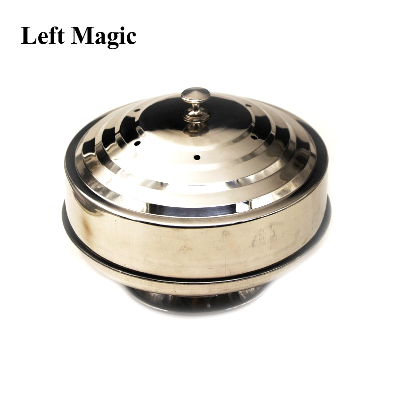 Fire Dove Pan Fire Dove Pan Dubbelbelastning Magic Tricks Silver Dubbel Layer Stage Magic Utseende Tricks Illusion Tillbehör
