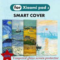 "Mi pad4 プラス 10 リテラルオイル塗装磁気フリップカバーシャオ mi mi パッド 4 プラス Pc タブレット 10.1 ""8.0 保護ケーススマートカバー"